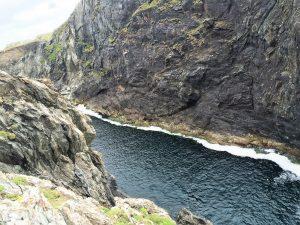 The impressive Dún Mór Cliffs and Cove.