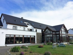 The modern Inishbofin House Hotel (and Marine Spa), located near the harbour