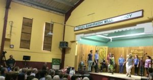 A concert of Irish dancing at the Community Hall in Miltown Malbay.
