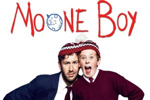 Actor's Chris O'Dowd and David Rawle in Sky's Mooneboy