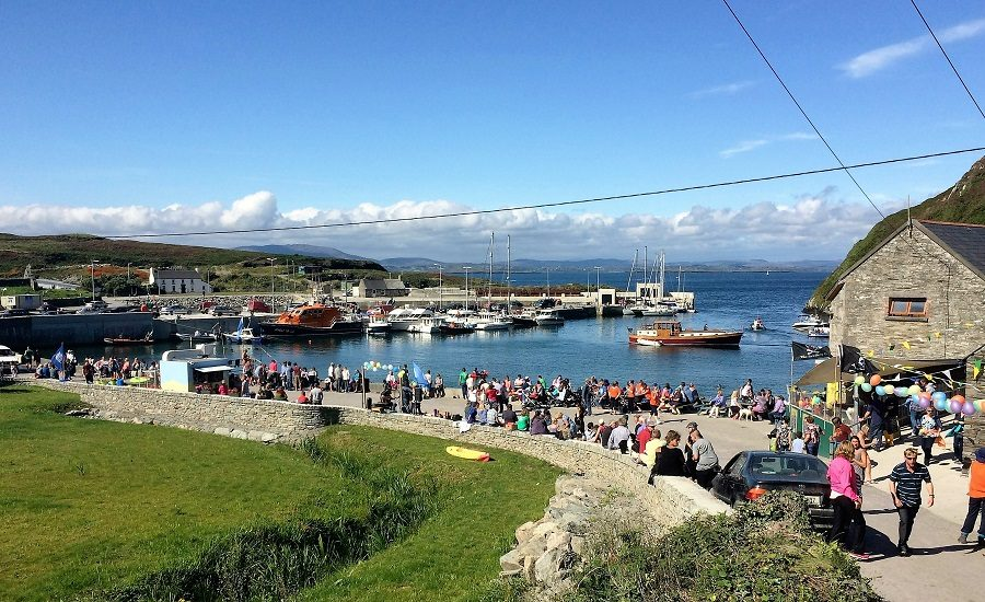 Cape Clear Harbour on a sunny Sunday