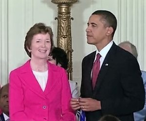 Robinson receiving the Presidential Medal of Freedom from Barack Obama
