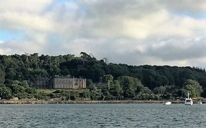 Bantry House as seen from the Whiddy Island Ferry.