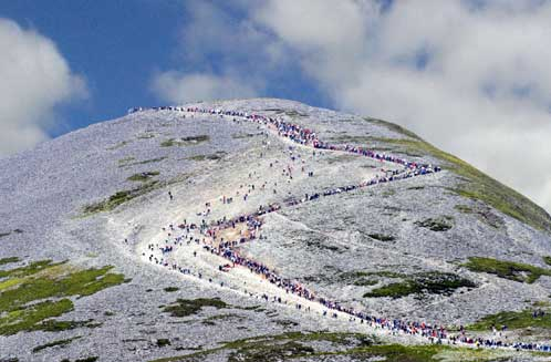 Crowds stream up Croagh Patrick on popular days like Reek Sunday