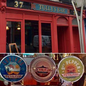 Tullys Bar serving local Metalman craft beers